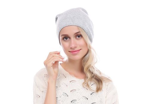 Peach Accessories PEACH SD12-1 Silver glitter Pom Pom Hat