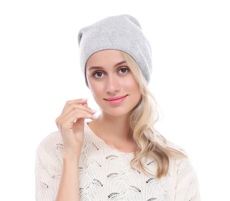 PEACH SD12-1 Silver glitter Pom Pom Hat