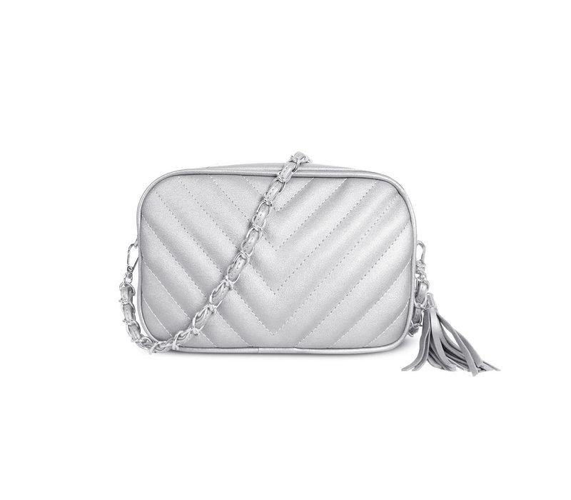 GESSY 833 Shoulder Bag in Silver