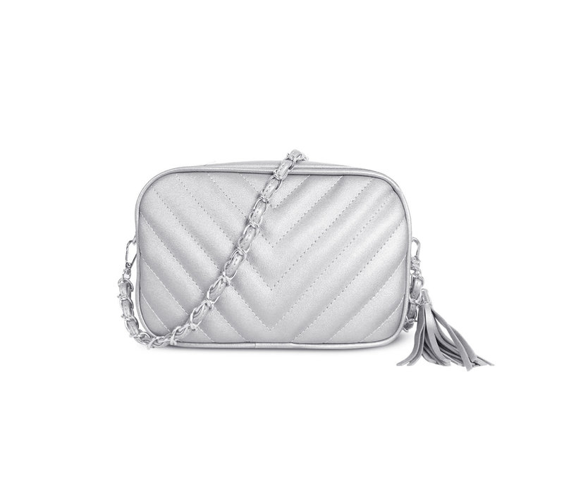 GESSY 833 Shoulder Bag in Silver