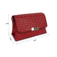 GESSY 6093 Shoulder bag in Red