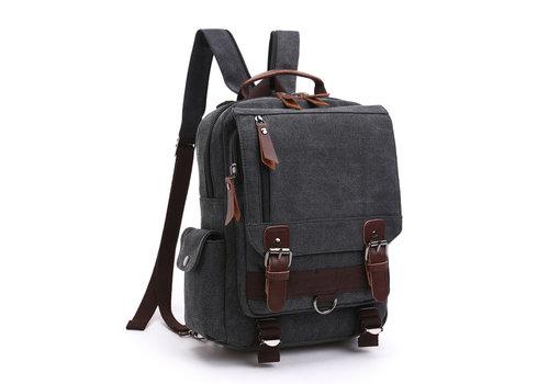 GESSY BAGS GESSY LB110 Backpack in Black canvas