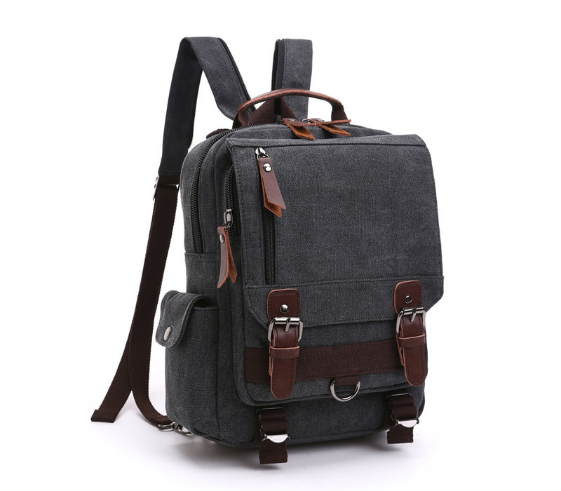 GESSY LB110 Backpack in Black canvas