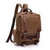 GESSY BAGS GESSY LB110 Backpack in Brown canvas