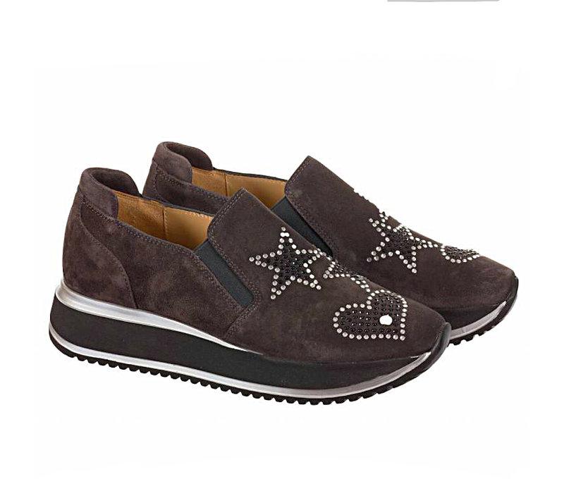 Perlato 10876 Grey Suede Shoes