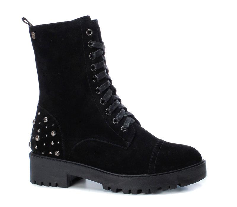 Carmela 66989 Black suede A/Boots