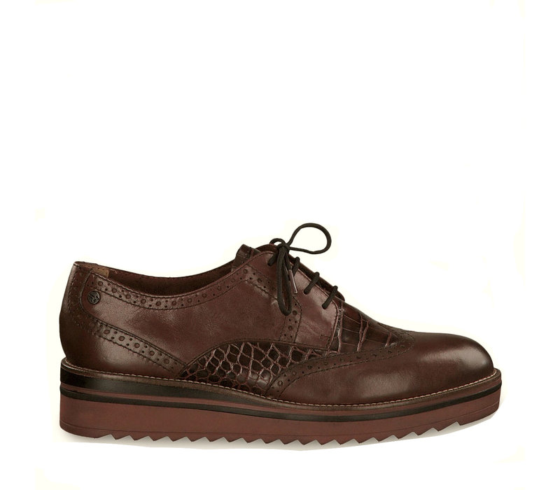 Tamaris 23729 Chestnut/Croco shoes