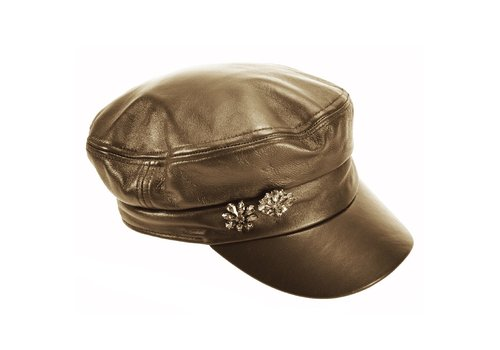 Seeberger Seeberger 018015/80 Leather Military Cap