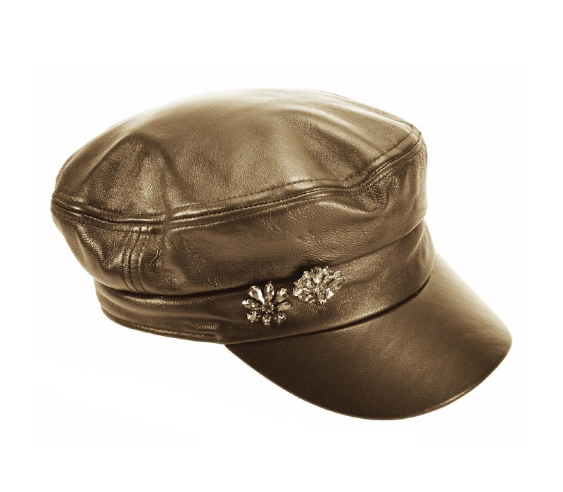Seeberger 018015/80 Leather Military Cap