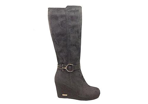 REDZ REDZ X2175-2 Grey Suede knee high boots