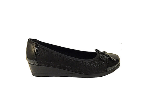 Sprox Sprox 475743 Black Low Wedge Pumps