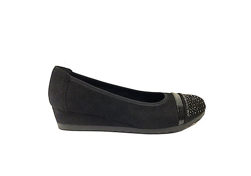 Sprox Sprox 479573 Black Low Wedge Pumps