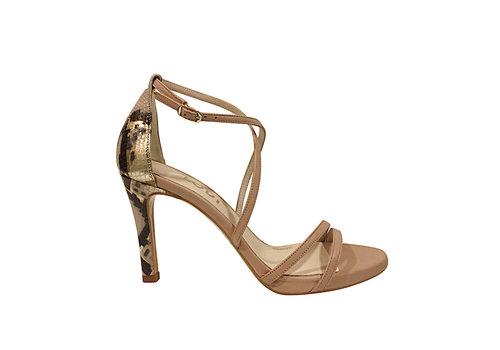 Lodi Lodi INRIKO-X Nude & Snake sandal
