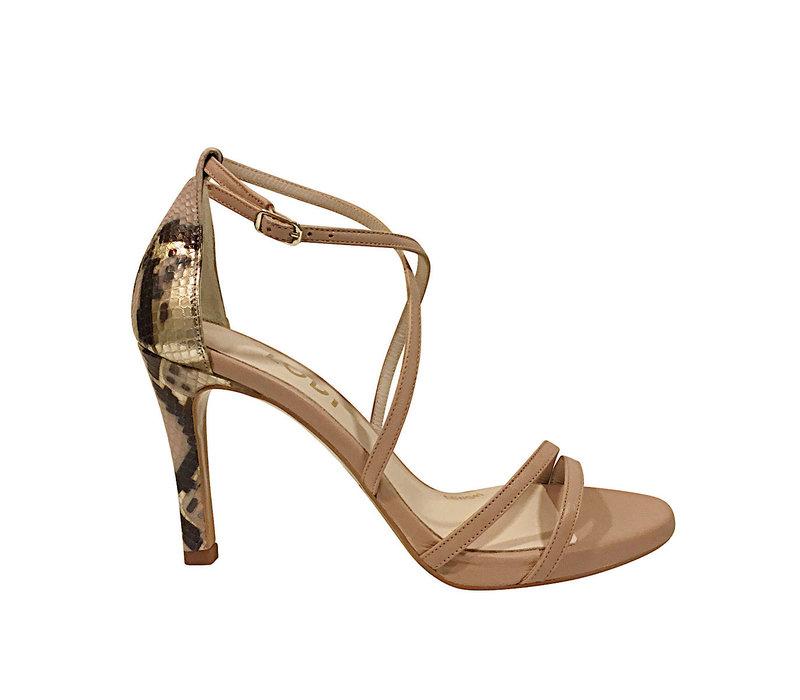 Lodi INRIKO-X Nude & Snake sandal