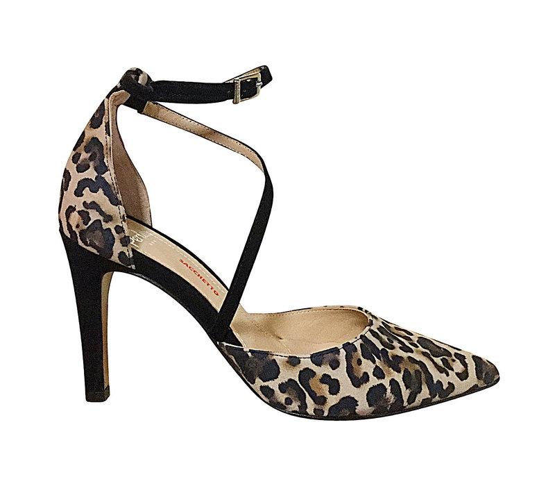 Perlato 11126 Black Leopard Strappy
