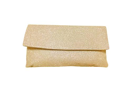 Le Babe Le Babe Pale Gold Glitter Bag