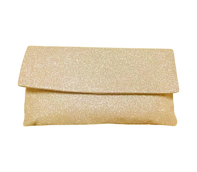 Le Babe Pale Gold Glitter Bag