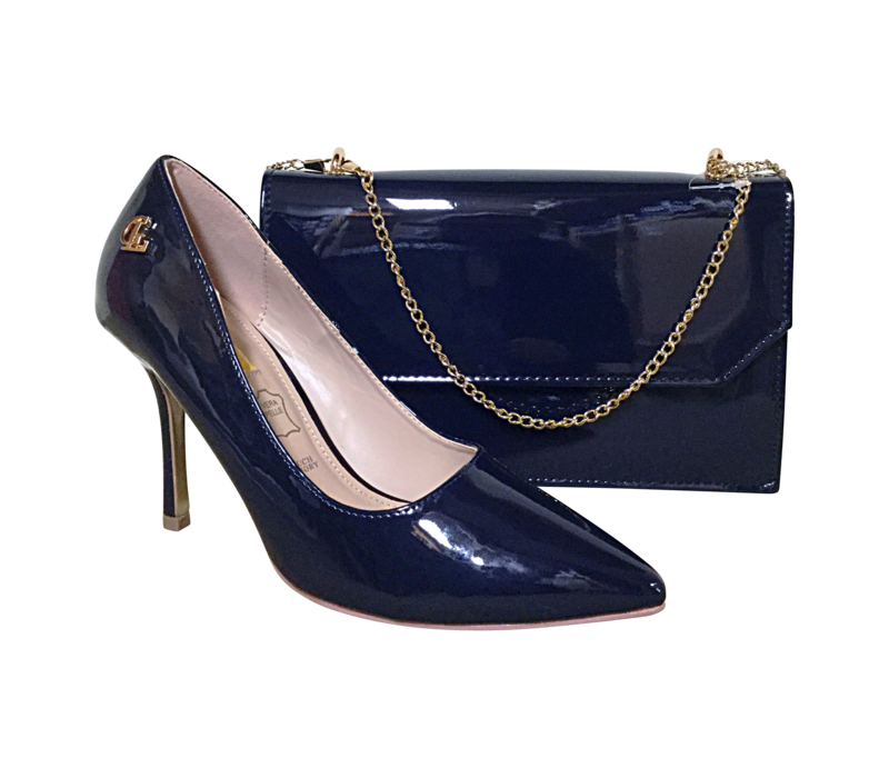 Glamour COURTNEY Navy patent shoes