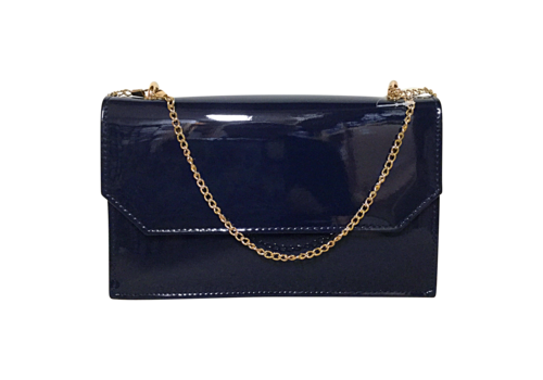 Glamour Glamour Navy patent COURTNEY Bag
