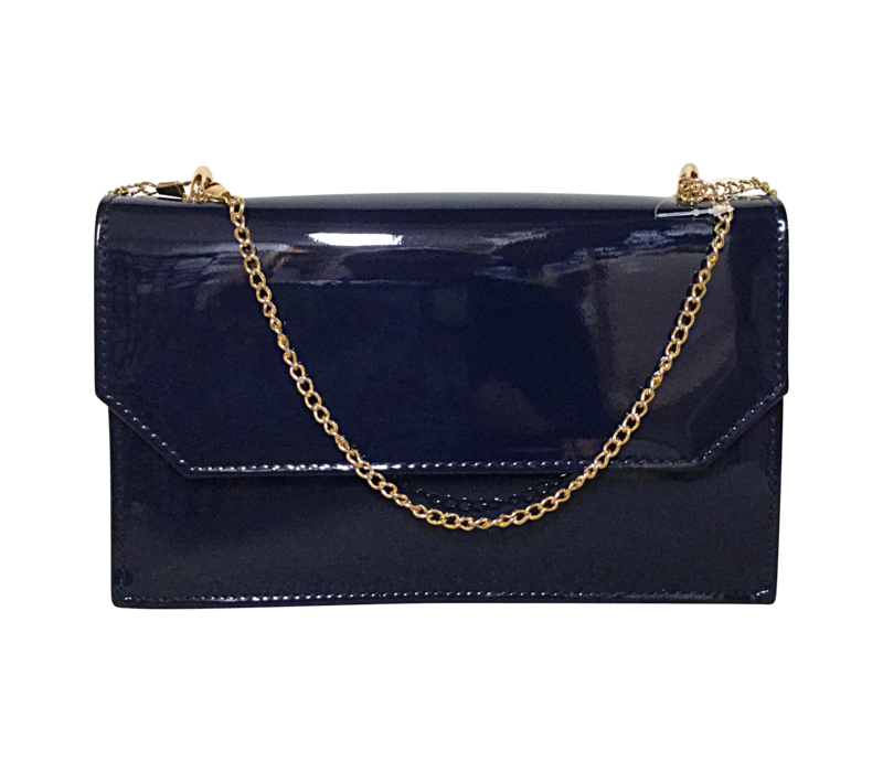Glamour Navy patent COURTNEY Bag