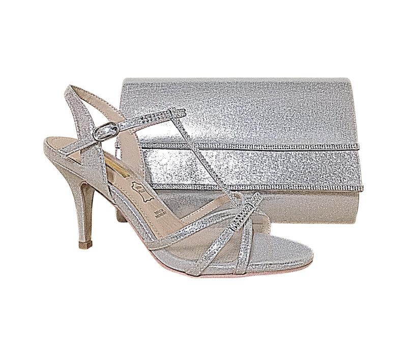 Glamour SUSAN Silver T-Bar sandals