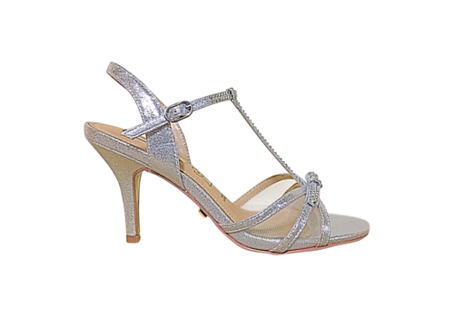 Glamour Glamour SUSAN Silver T-Bar sandals