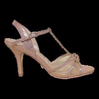 Glamour SUSAN Rose T-Bar sandals