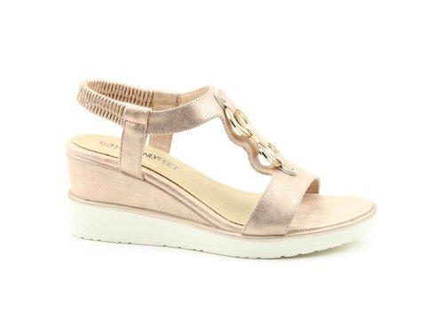 Heavenly Feet Heavenly Feet MILENA Rose Gold sandals