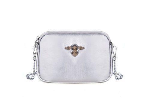 Peach Accessories Peach 8801 Crystal Bee Leather pouch