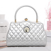 Peach Accessories Peach ZW1803 silver quilted Bag