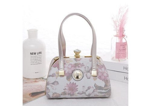 Peach Accessories Peach 61329 Pink floral leather Bag