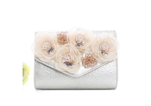 Peach Accessories Peach F2353 Gold Bag with flowers