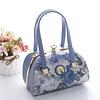 Peach Accessories Peach 61329-3 Blue Daisy leather Bag