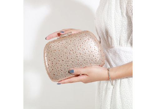 Peach Accessories Peach JH016 Rose Gold crystal bag