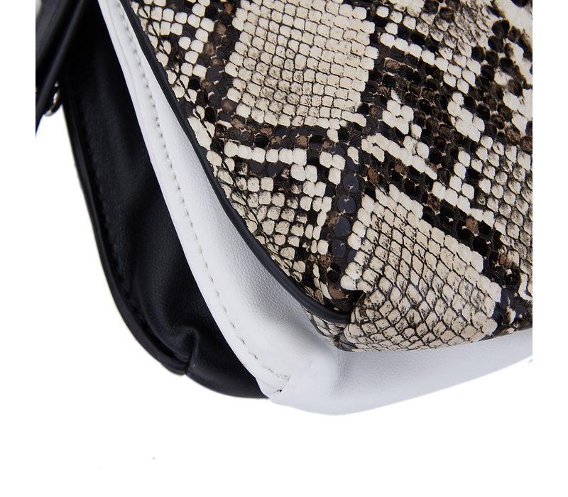 Peach 191 Blk/Wht/Snake combo bag