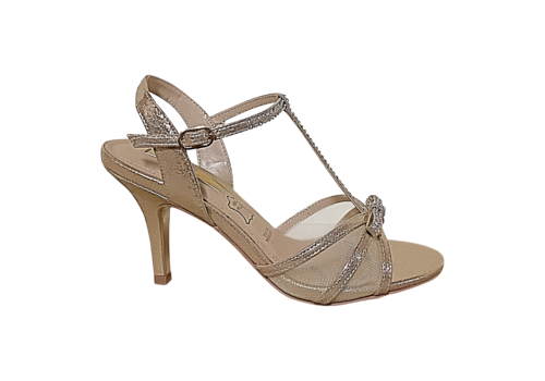Glamour Glamour SUSAN Gold T-Bar sandals