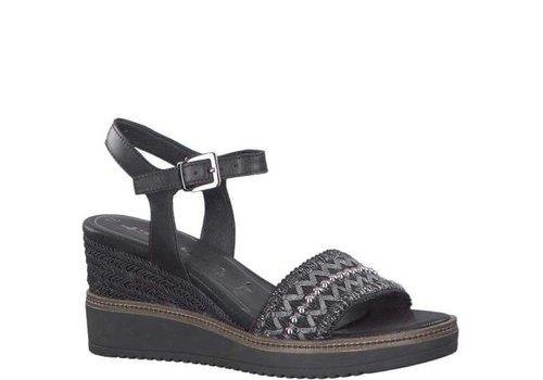 Tamaris Tamaris 28243 Black wedge sandal