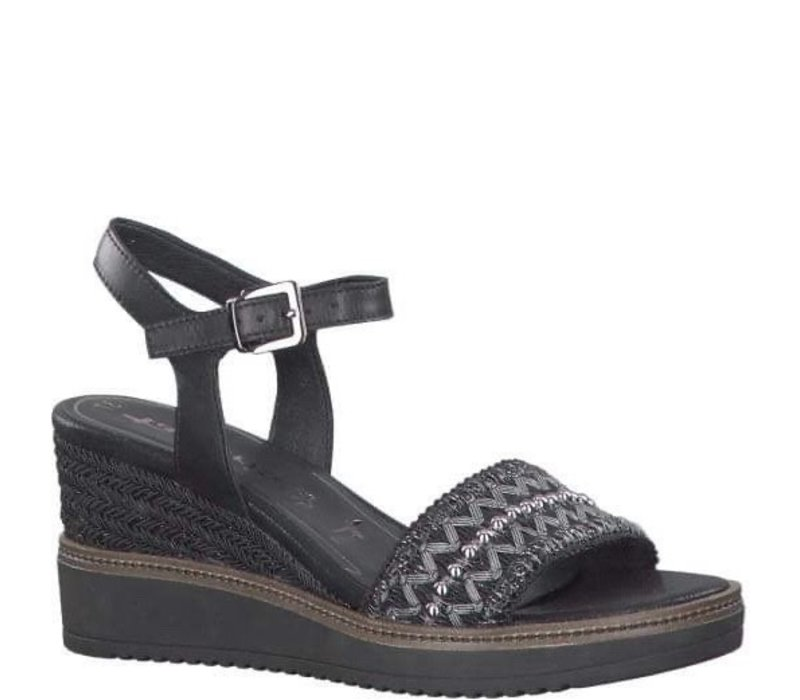 Tamaris 28243 Black wedge sandal