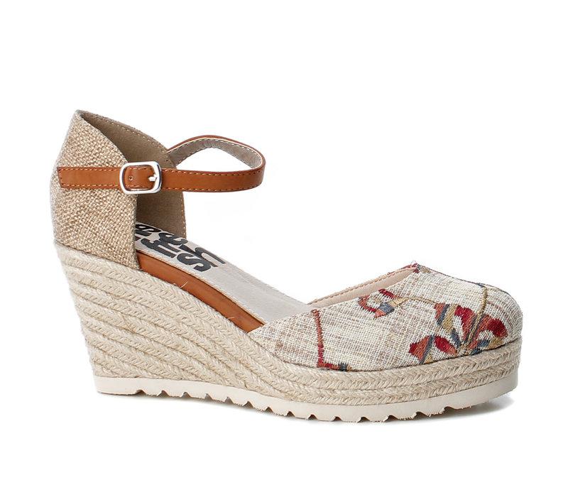 Refresh 69831 Cream floral shoe