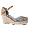 Refresh S/S Refresh 69831 Blue floral shoe