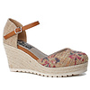 Refresh S/S Refresh 69831 Taupe floral shoe