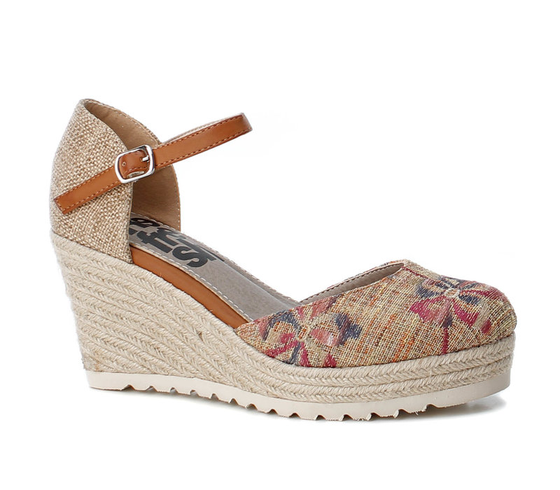 Refresh 69831 Taupe floral shoe