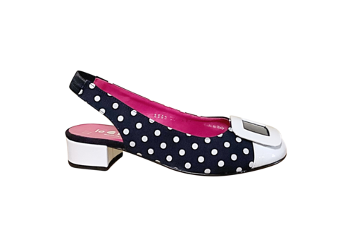 Le Babe Le Babe 3362 Navy/White sling-backs