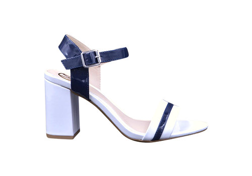 Milly & Co. Milly & Co. GINA White/Navy sandals
