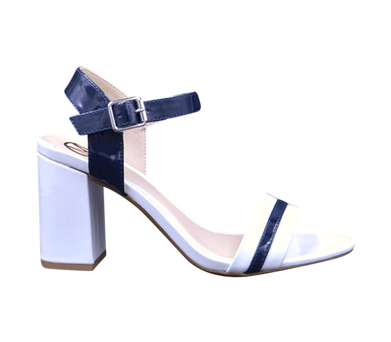 Milly & Co. GINA White/Navy sandals