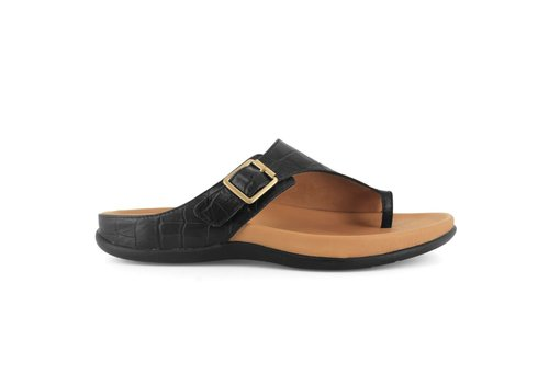 Strive Strive JAVA Black Croc sandals