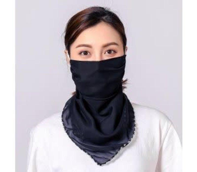Peach scarf MASK Plain Black