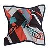 Peach Accessories Peach F673 mixed print square scarf