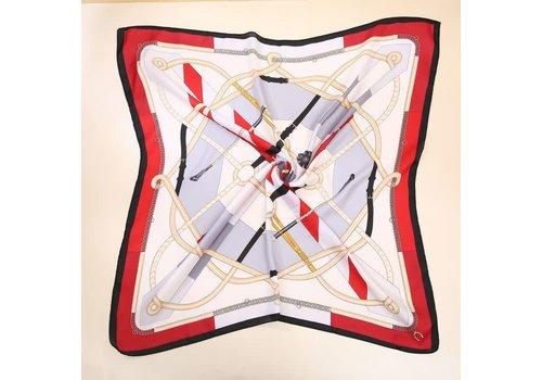 Peach Accessories PeachF620 Red multi scarf