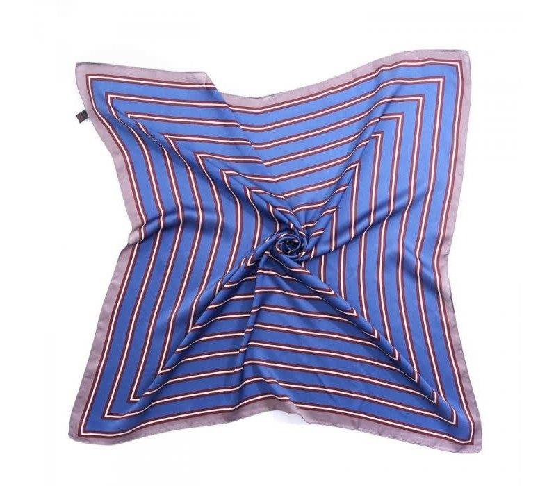 Peach F667 Blue striped scarf